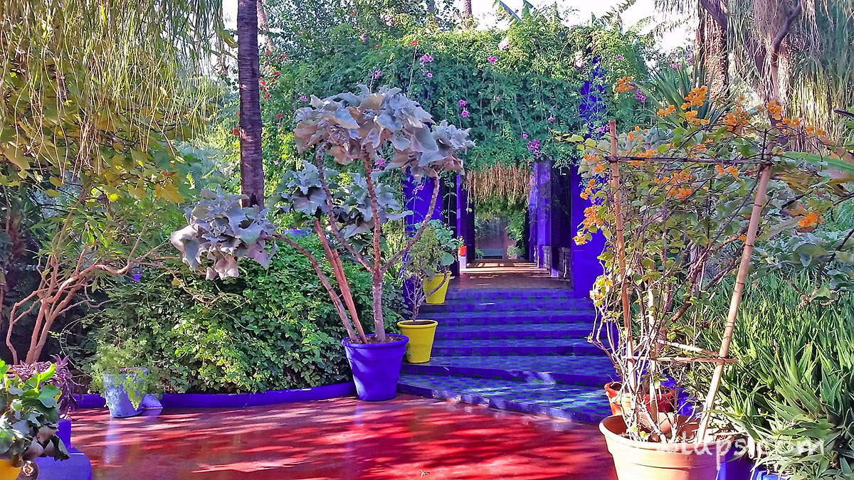 passage jardin majorelle carnet voyage maroc marrakech wlaps. Black Bedroom Furniture Sets. Home Design Ideas