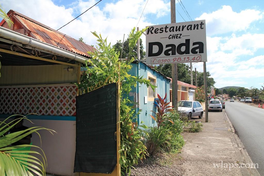 Entrée du restaurant Chez Dada en Guadeloupe