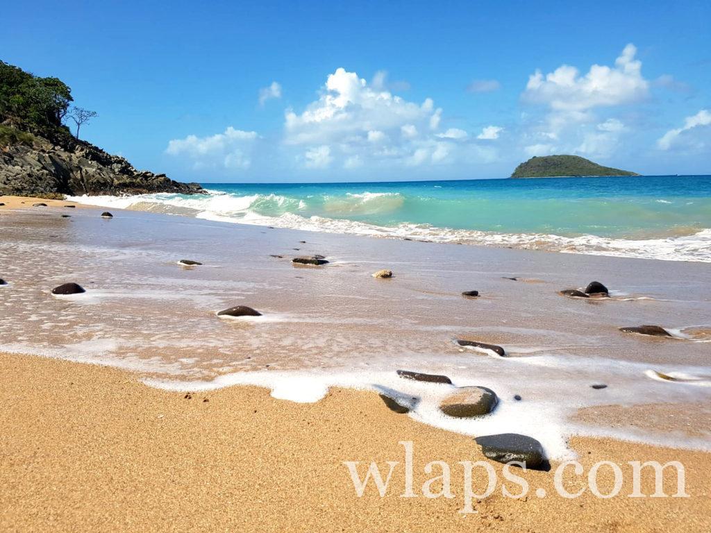 La belle plage naturiste de l'Anse Tillet en Guadeloupe