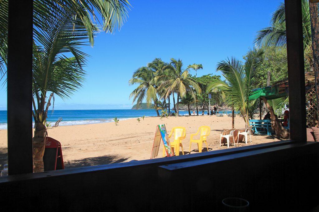 dans le restaurant en Guadeloupe