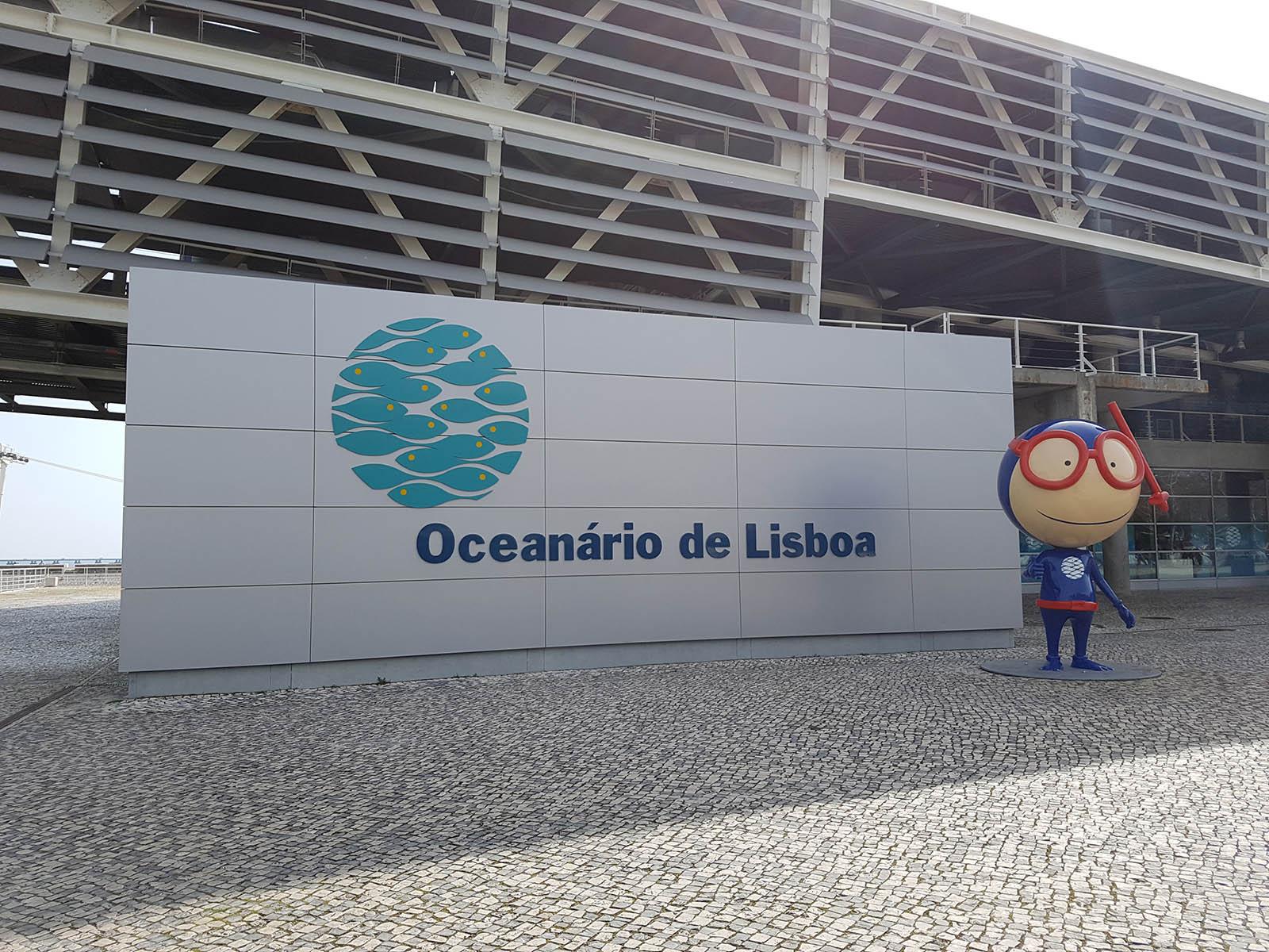 La mascotte de l'Oceanarium de Lisbonne