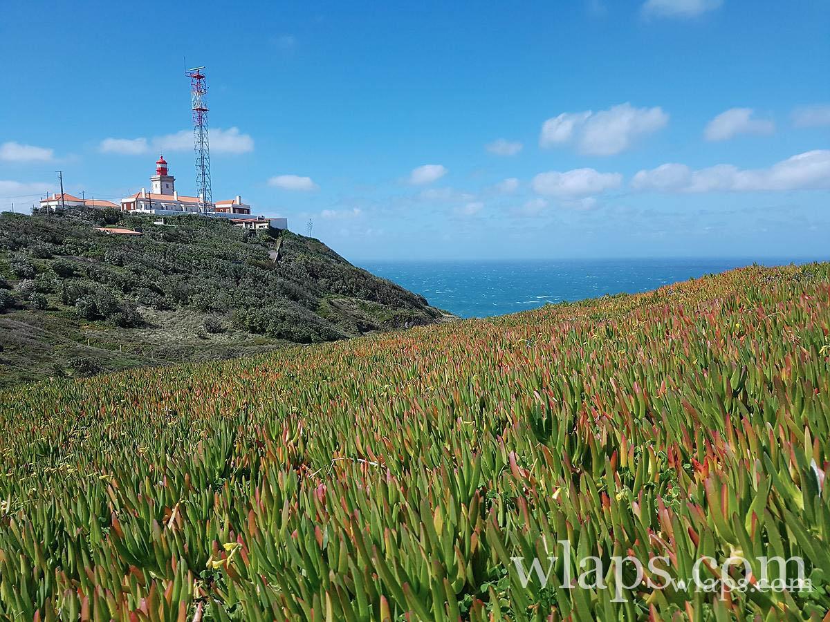 Cabo da Roca vu d'un lieu où peut de monde va