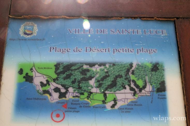 Panneau de la ville de Sainte Luce