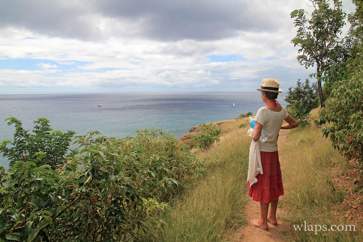 Vue sur la mer des Caraibes en Martinique