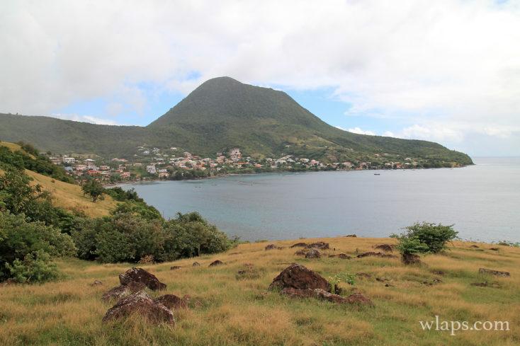 Vue sur un village en Martinique
