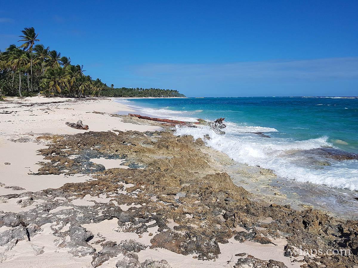 La plage de la Feuillère à Marie Galante dans les Caraïbes