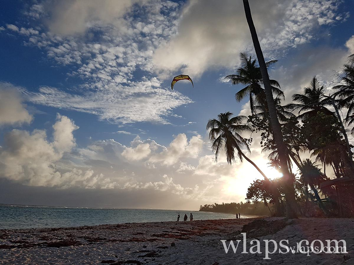 Le coucher de soleil à la plage de la feuillere