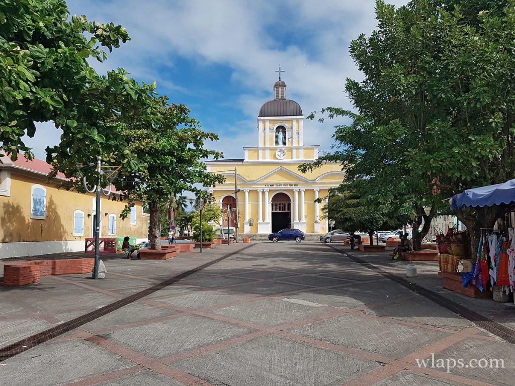 église à grand bourg de marie-galante à visiter avec la pluie