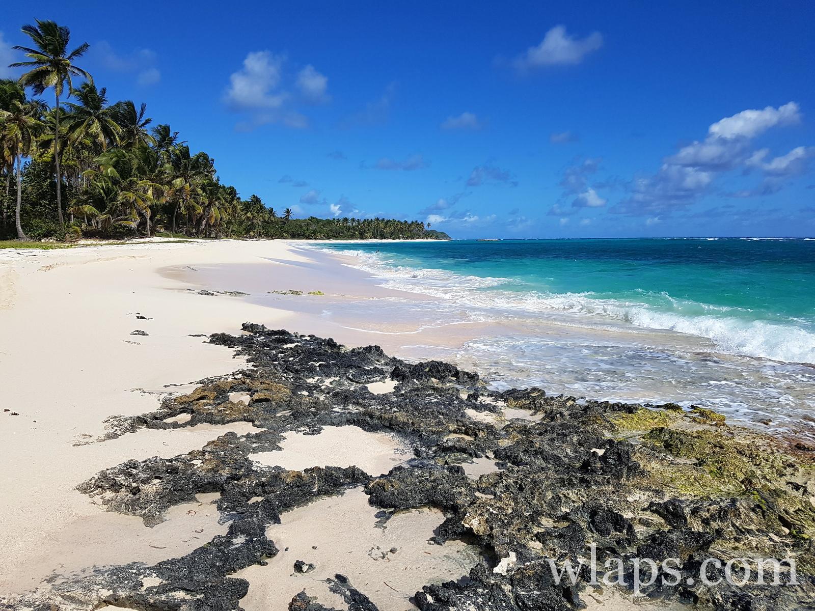 Plage de la Feuillère à Marie Galante dans les Caraïbes