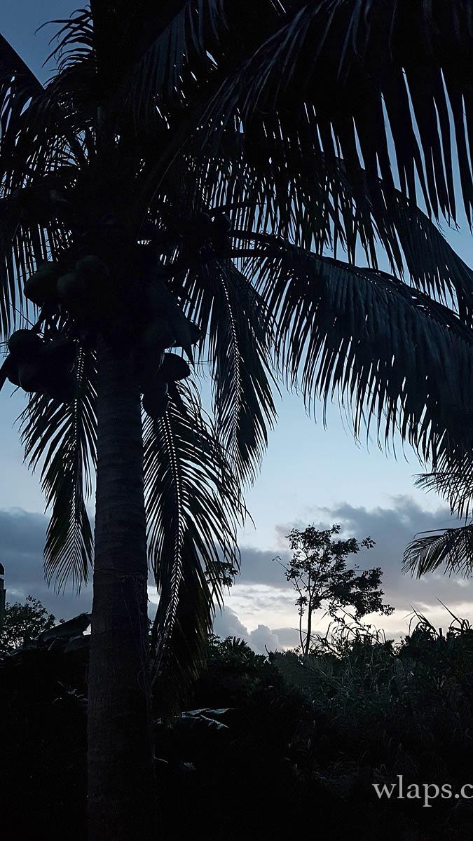 Coucher de soleil plage de la Feuillère à Marie Galante