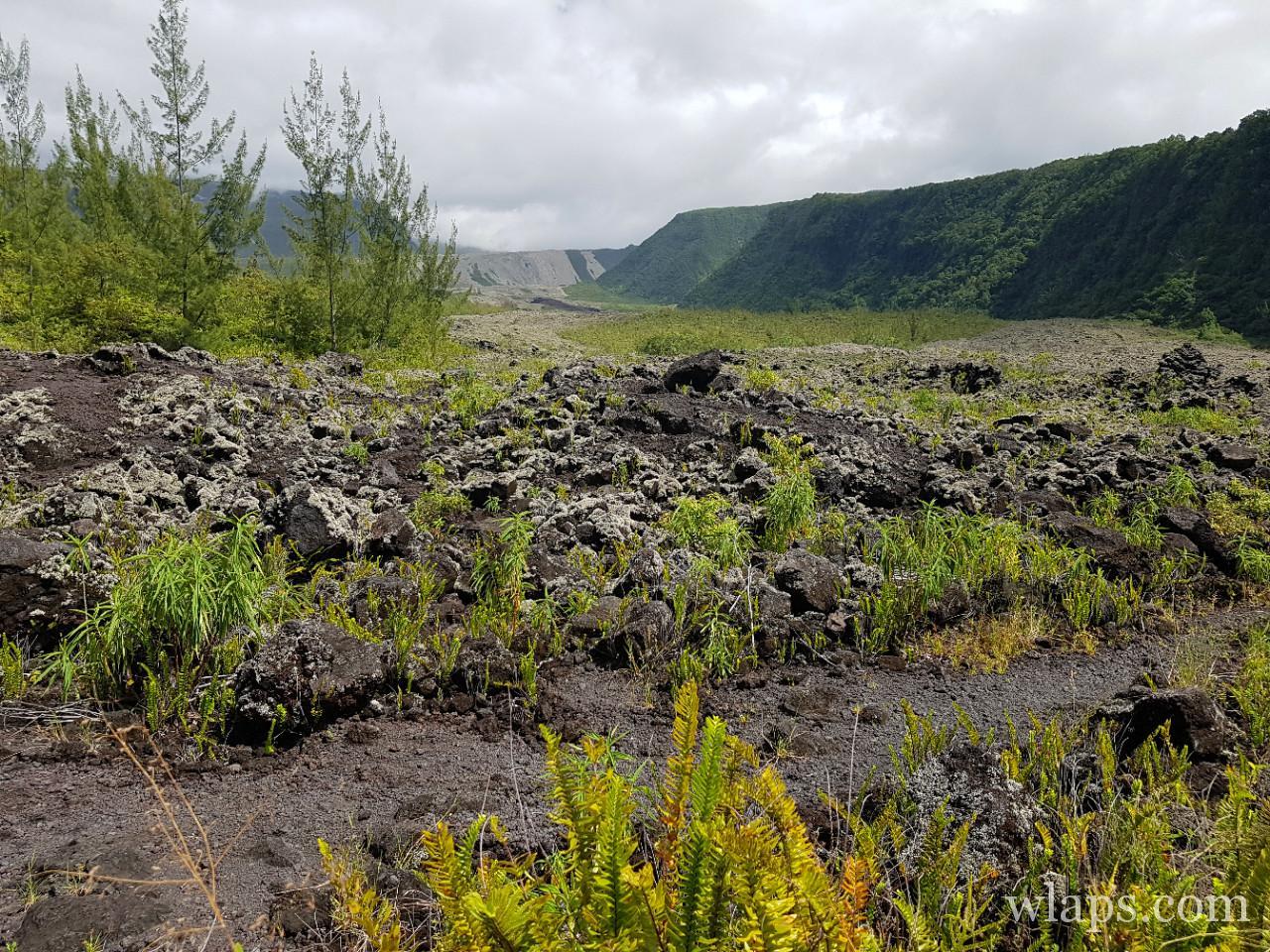 Le site de Grand Brulé à l'ile de La Réunion