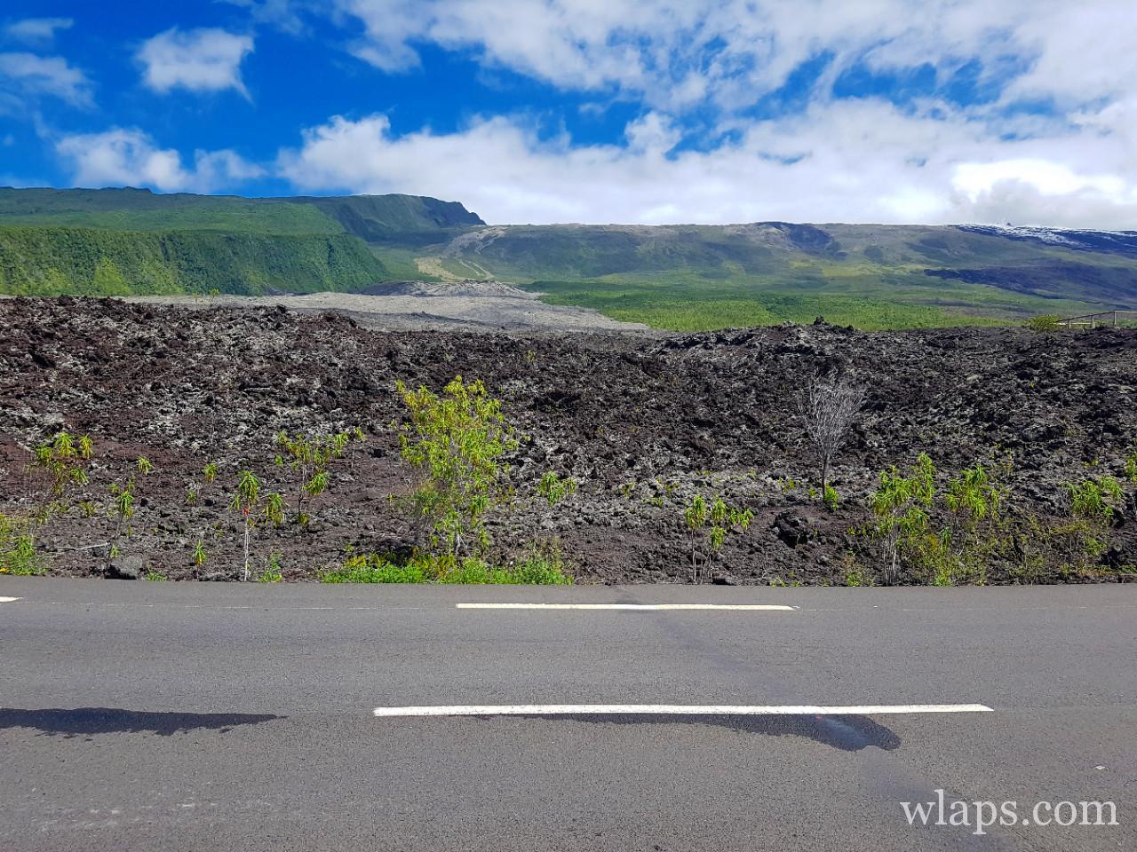 La route des laves à La Réunion