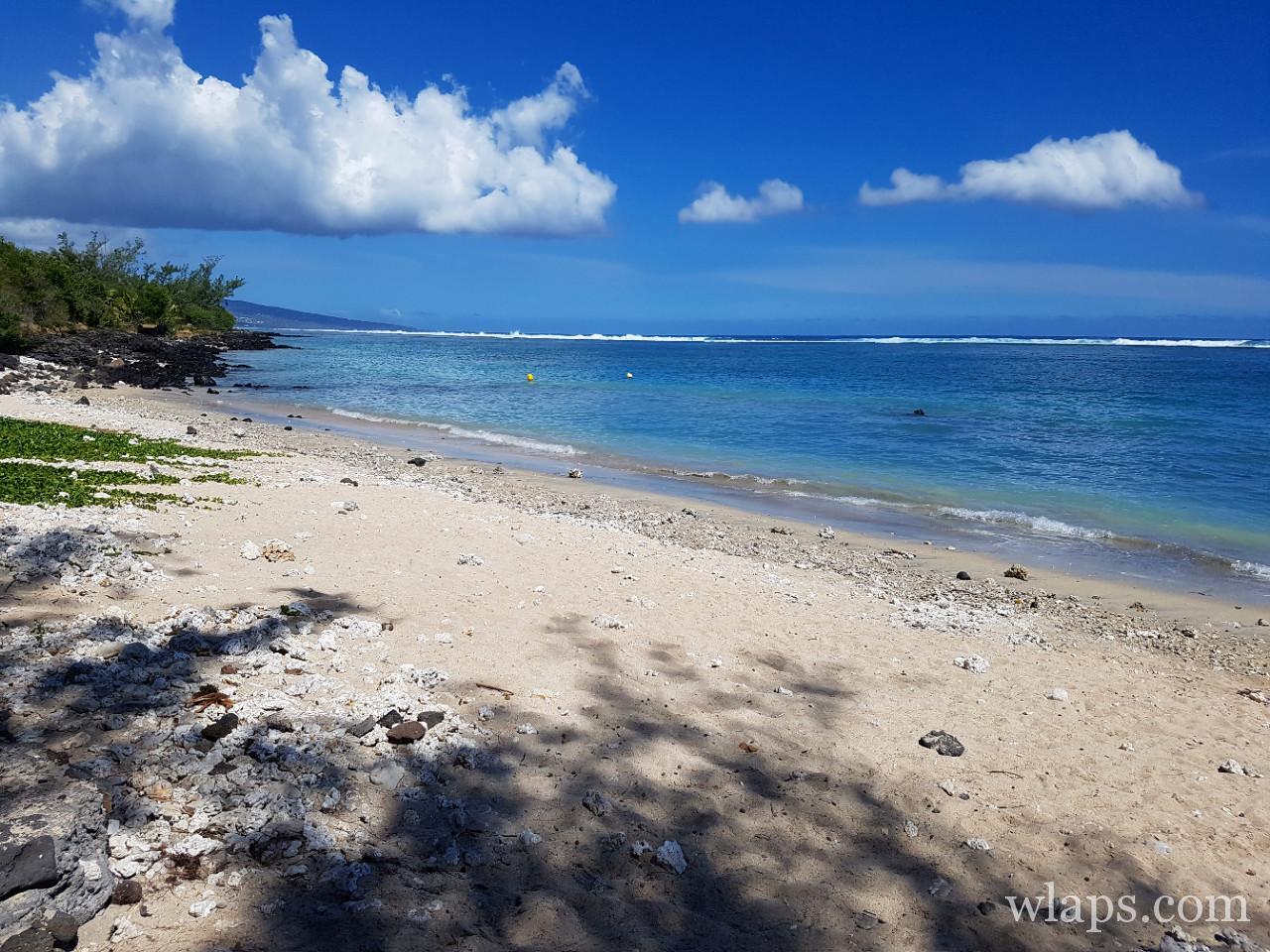 Plage de Trou d'Eau à l'ile de La Réunion