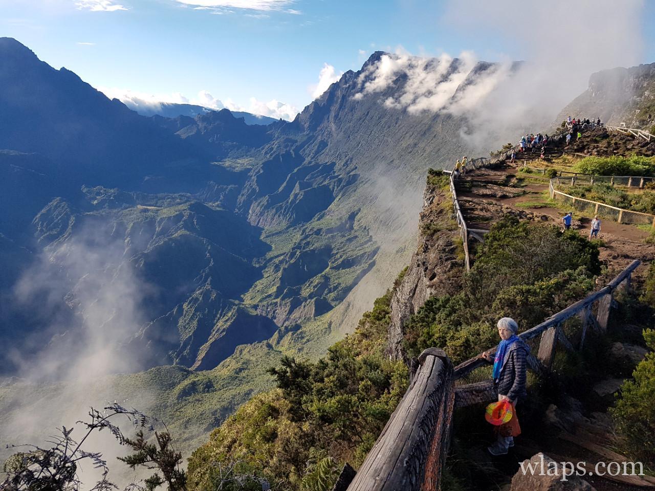Le cirque de Mafate depuis le Maido à la Réunion