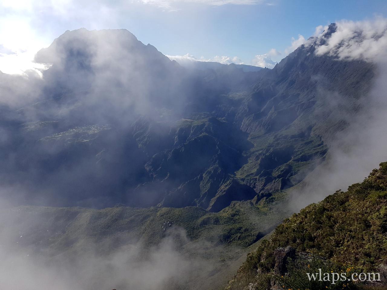 Le cirque de Mafate vu depuis le Maido à la Réunion