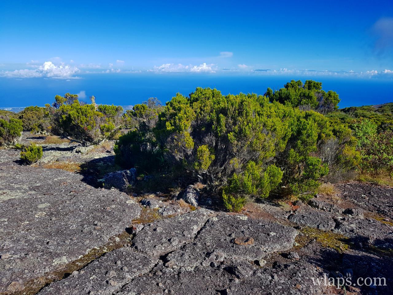 L'océan indien depuis le Maido à la Réunion