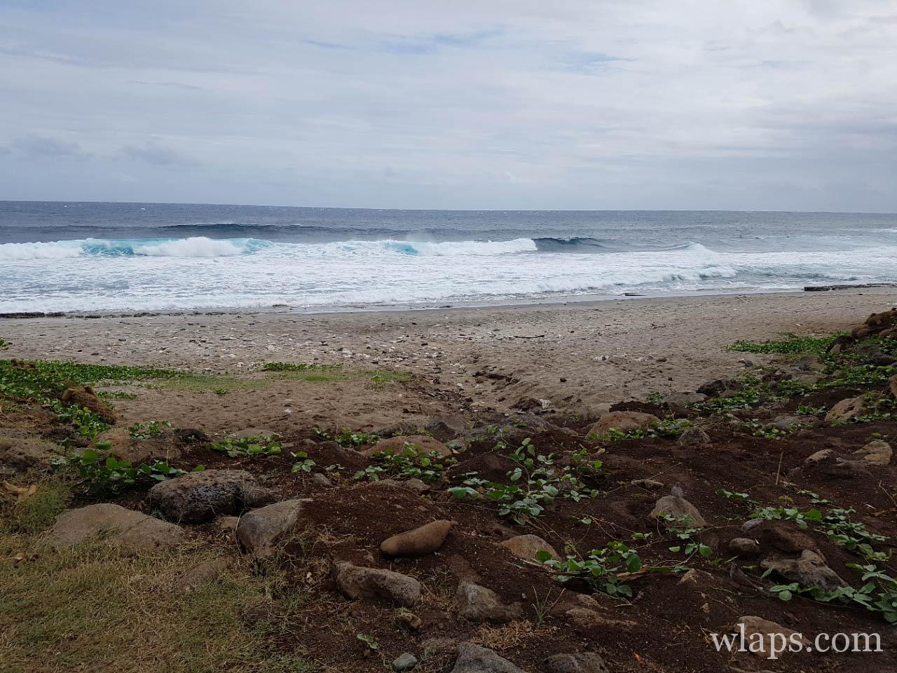 L'océan à la plage de Grande Anse à l'île de La Réunion