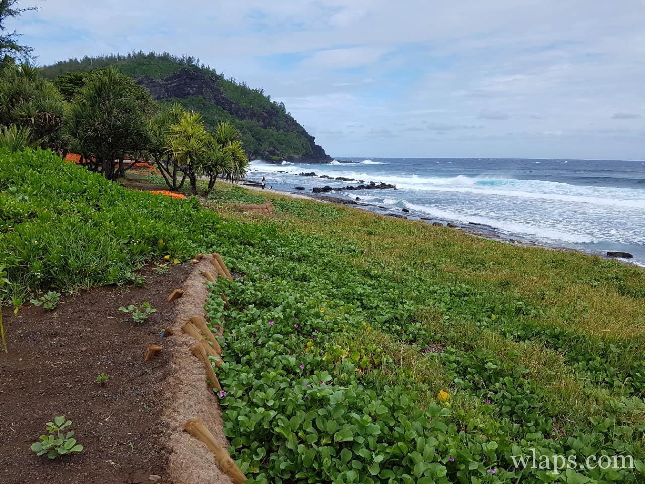 Bassin de la plage de Grande Anse à l'île de La Réunion