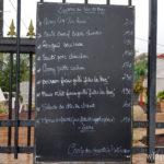 Carte du restaurant créole La Kaz ile de La Réunion