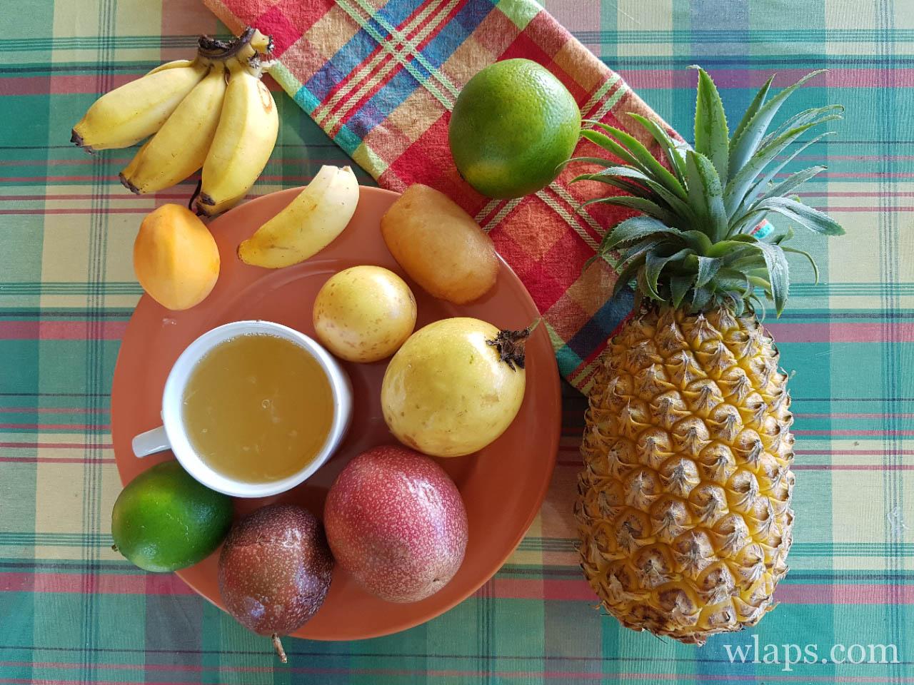 legumes et fruits exotiques de l'ile de la réunion