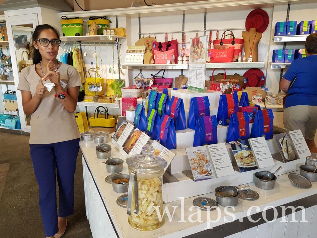 Vendeuse à l'aventure du sucre