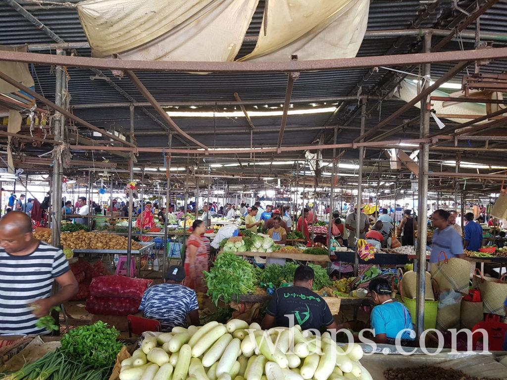 marché de goodlands à l'ile maurice
