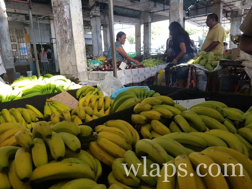 fruits exotiques sur le marché de Goodlands à l'ile Maurice