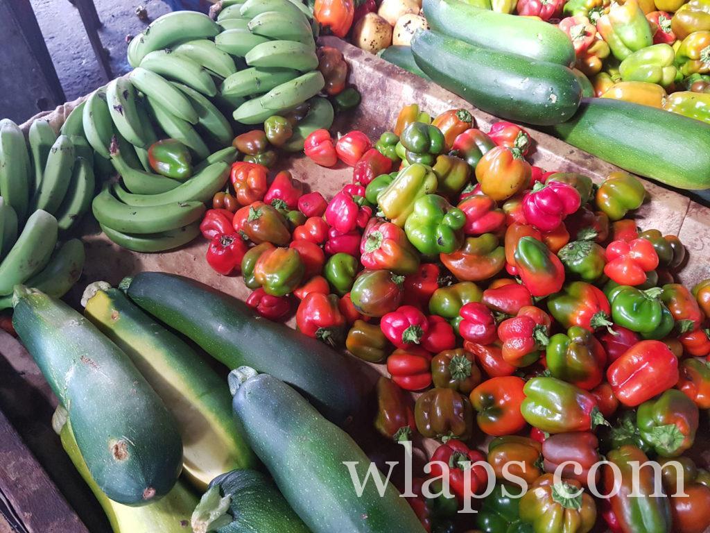 banane verte et autres légumes exotiques de l'île Maurice