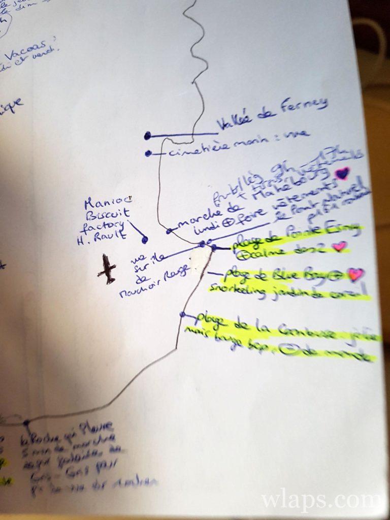 planning de visites à l'ile maurice
