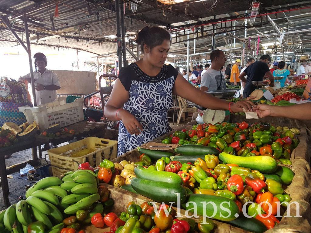 sur le marché de goodlands à l'île Maurice