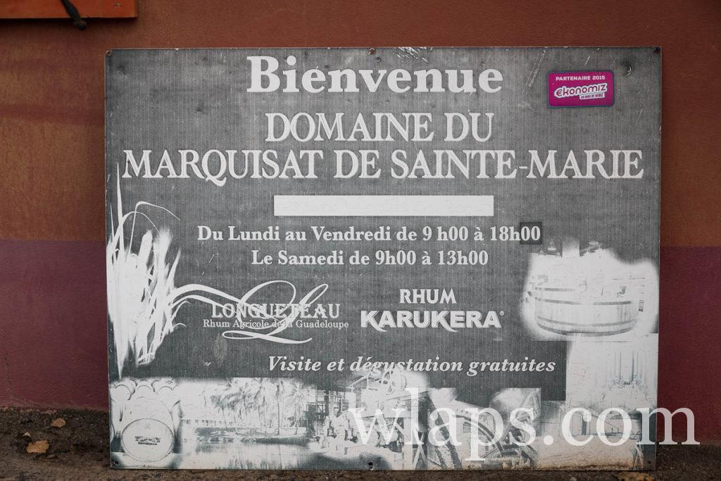 domaine du marquisat de sainte marie en Guadeloupe
