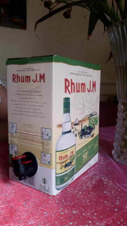 un cubi de rhum JM