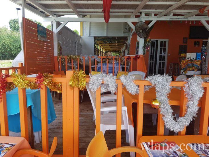 salle du restaurant Eden Voile à Marie Galante