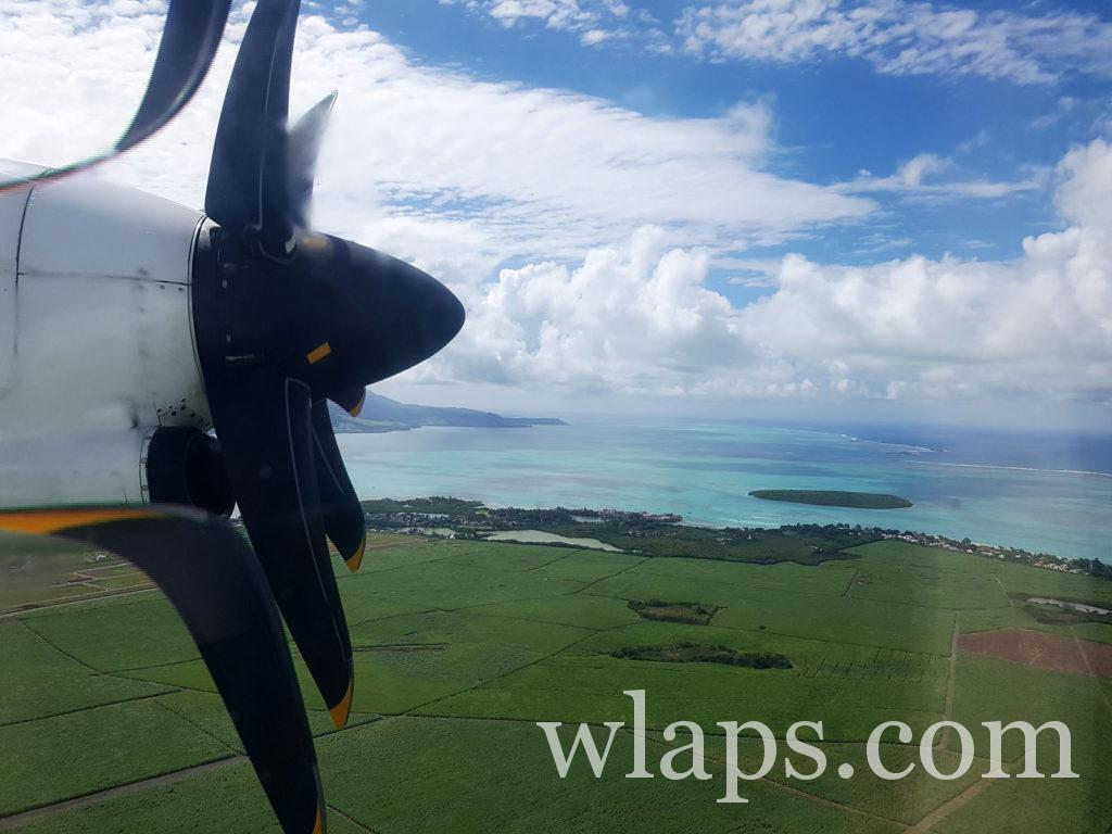 Notre avion va atterrie à l'aéroport de l'ile Maurice