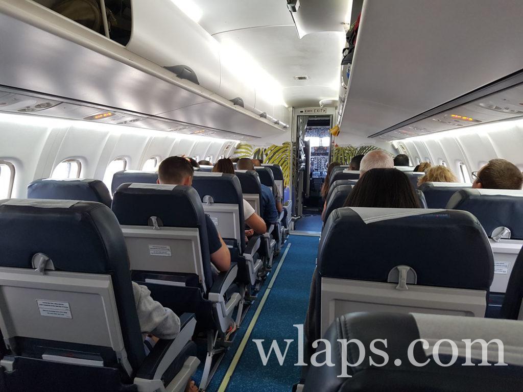 Durant notre vol dans l'avion pour se rendre à l'ile Maurice