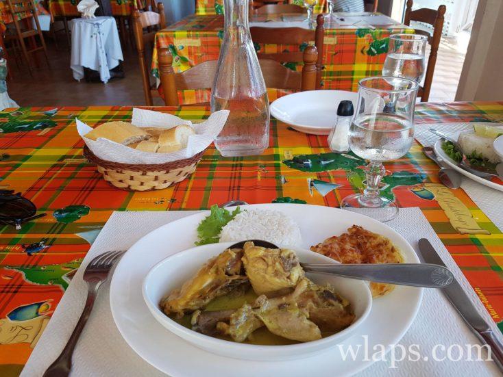 plat au restaurant Le reflet de l'île à Capesterre de Marie-Galante