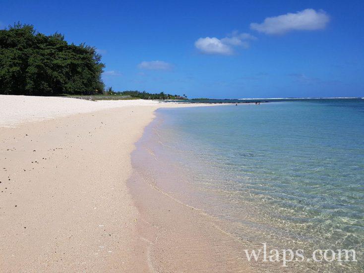 une plage naturiste à l'ile Maurice