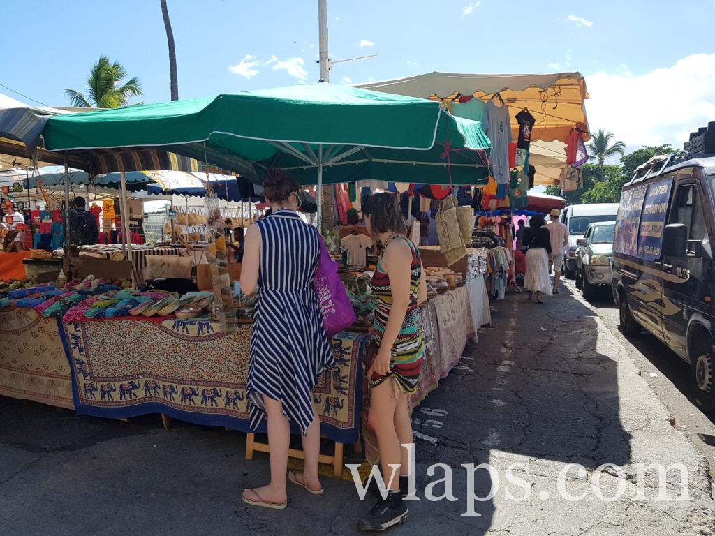 Visite du marché de Saint Paul à l'ile de la réunion