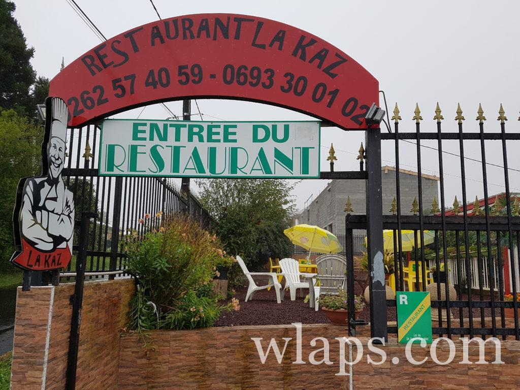 Ce midi c'est déjeuner à La Kaz à La Réunion
