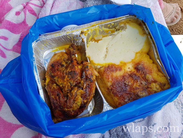 Christophine, gratin et poulet boucané