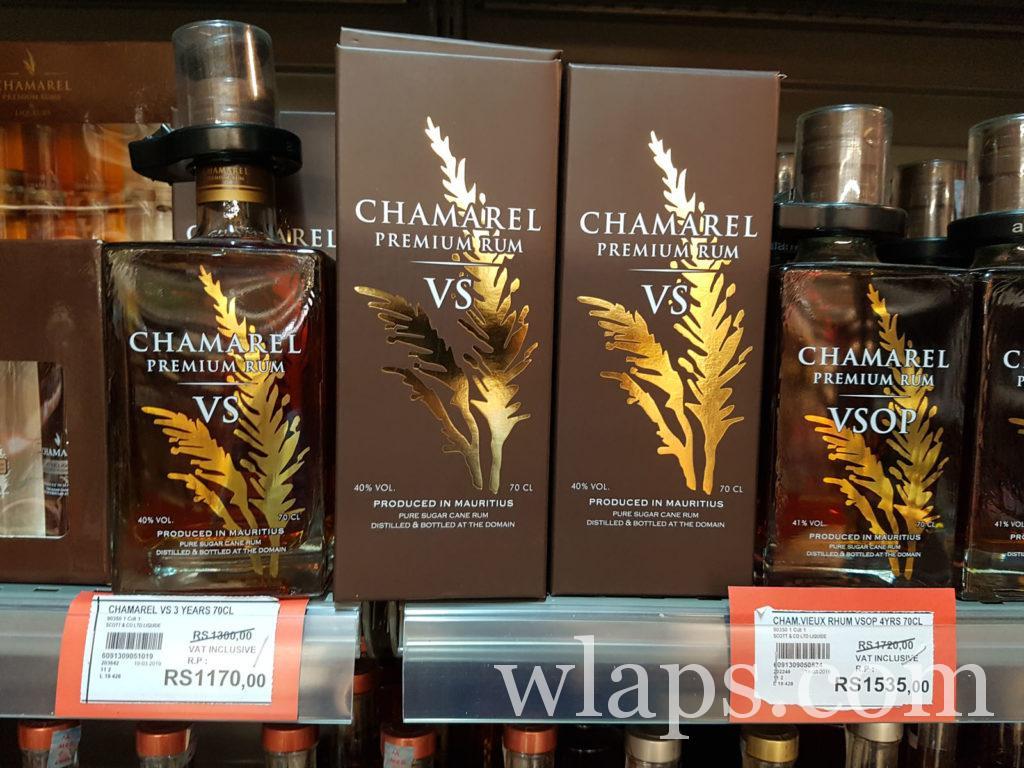 Bouteilles de rhum Chamarel et leur prix au supermarché