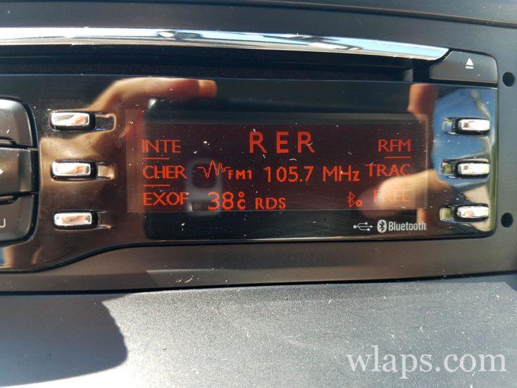 Température dans notre voiture de location au soleil de La Réunion