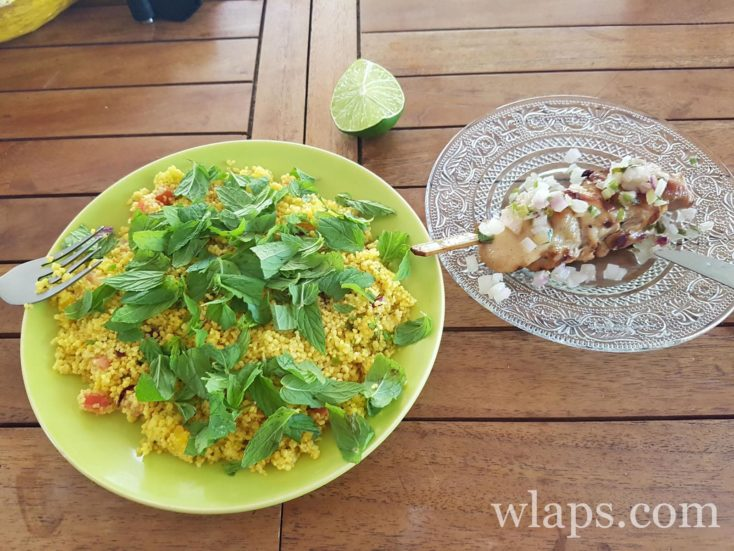 plats le midi de chez le Traiteur Poivre et Vanille en Guadeloupe