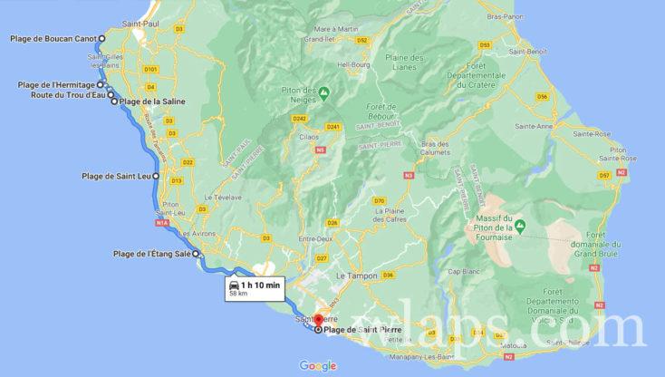 Trouver un logement près des plages pour se baigner à La Réunion