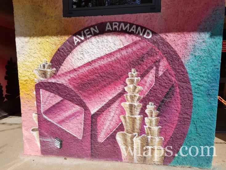 entrée du site de l'Aven Armand