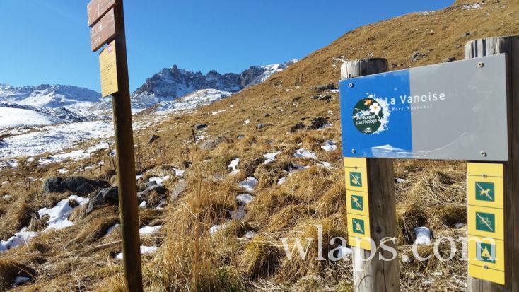 panneau du Parc National de la Vanoise