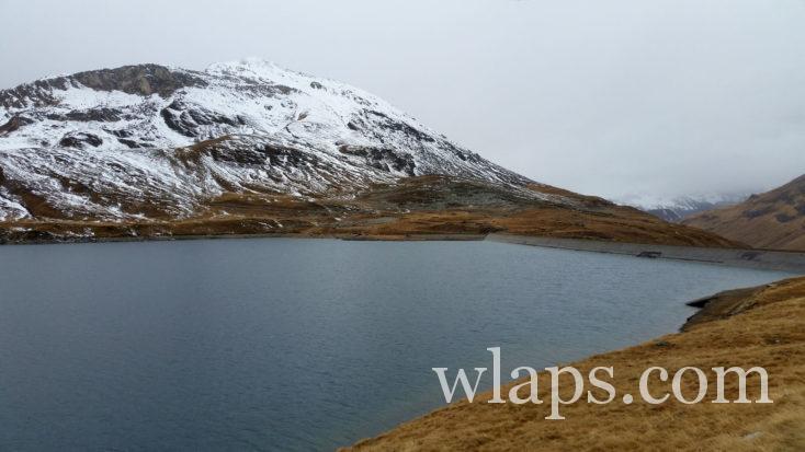 Le Lac et le barrage de la Sassière