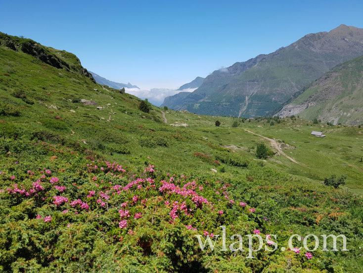 chemin de randonnée depuis le point de vue sur le lac des gloriettes