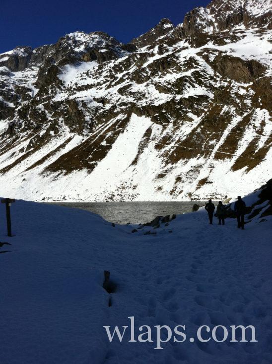 Lac d'Ilhéou en hiver