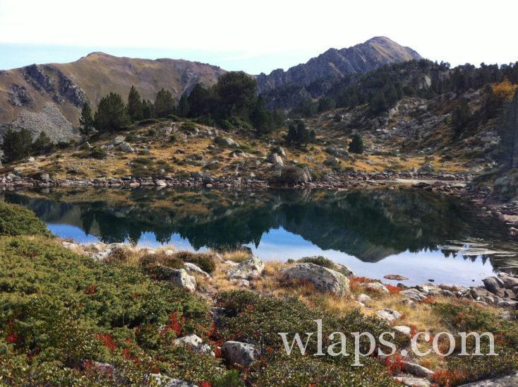 un lac durant la randonnée